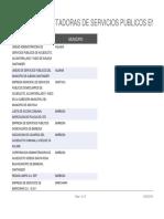 Empresas Prestadoras de Servicios Publicos en Santander