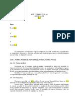 Model Act Constitutiv s.r.l. 2019