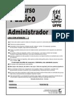 Prova Administrador UFPE 2012