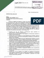 Proyecto de Ley que modifica la Ley Orgánica de Elecciones respecto al sistema electoral nacional