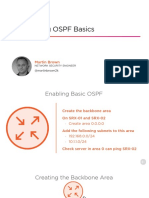 JUNOS Configuring Ospf Basics