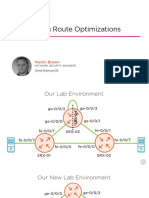 JUNOS OSPF Configuring Route Optimizations