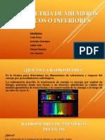 Radiometría de miembros pélvicos o inferiores