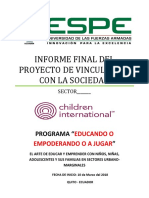 Instructivo Del Informechildren International