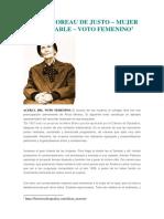 ALÍCIA MOREAU DE JUSTO – Mujer incansable – voto femenino