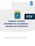 Manual de Matricula Estudiante SIA