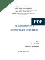 Teorías y Modelos Del Crecimiento Económico.