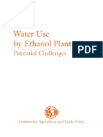 Water Use by Ethanol Plants