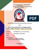 Declaración de Los Derechos Del Niño, Mujer y Adulto Mayor