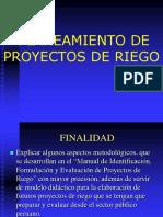 Planeamiento de Proyectos de Riego
