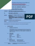 Informe Nº 636 – 2019 - Revision Del Informe Técnico Del Estado Situacional Del Proyecto Mejoramiento de Las Capacidades Socioculturales en La Generación de Danzas y Actividades Florales Con Motivos Turístico