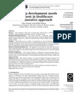 Leadership development needs assessment in healthcare