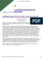 Modelo de Un Plan de Capacitacion