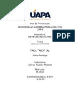 Tarea 6 Derecho Notarial