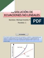 Resolución de Ecuaciones No Lineales