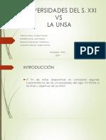Unsa y Las Universidades Del Siglo XXI