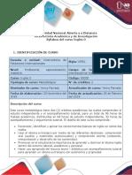 Syllabus del curso - Course syllabus Inglés 0 (2).pdf