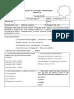 EVALUACIÓN DE LENGUAJE Y COMUNICACIÓN unidad 1 quinto.docx