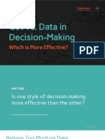 Gut-Driven vs. Data-Driven Decision-Making