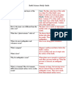 Earth Sci Study GuideANSWER KEY