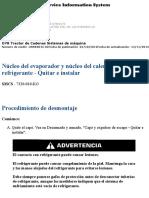 Núcleo del evaporador y núcleo del calentador de CAT D7.pdf