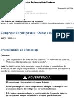 Desmontaje y Montaje de compresor de aire acon Topadora CAT D7.pdf