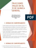 INSTRUCCIONES GENERALES EN EL TALLER DE QUÍMICA GENERAL.pptx