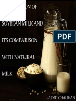 PREPARATION OF SOYBEAN MILK AND ITS COMPARISION WITH NATURAL MILK