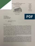 Goldman letter
