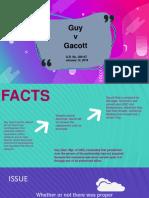 Guy v. Gacott