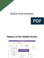 Global Food Institutes