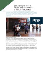 Crisis en servicios públicos a escala nacional compromete el éxito de la actividad turística.docx