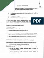 Política de rendimentos da Fundacao Cidade de Guimaraes