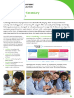 268765 Cambridge Lower Secondary Factsheet a Guide for Parents