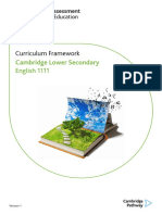 1110 Lower Secondary English Curriculum Framework 2018 Tcm143 3539421