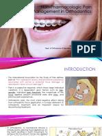 Non-Pharmacologic Pain Management in Orthodontics