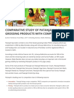 Comparative Study of Patanjali with Competitors | Stellarix