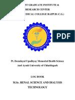 Dks Post Graduate Institute. Log Book