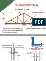 Modeling of Howe Roof Truss