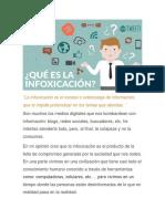 La Infoxicación Es El Exceso o Sobrecarga de Información