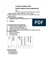 Format for Clinical Presentation