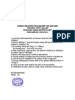 Stress Relieving Procedure