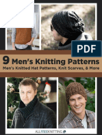 9 Mens Knitting Patterns Mens Knitted Hat Patterns Knit Scarves  More.pdf