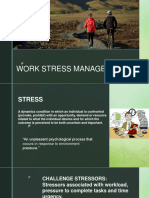 Work Stress Managemnet