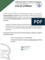 Edital Nº V/MMXIX - Assembleia de Freguesia de Sande e S. Lourenço do Douro