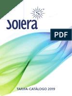 201904 Solera Tarifa Catálogo 2019