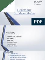 Mass Media and Hegemony.