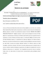 Relatório Maria Gabriela