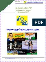 A2Z November 2017 Current Affairs PDF