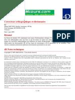Cours 4d Correcteur Orthographique Et Dictionnaire